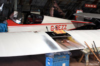 G-BEZZ @ EGCB - Under restoration by its owner at Barton, EGCB - by Clive Pattle