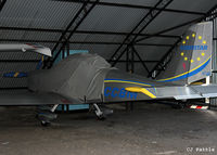 G-CCBM @ EGCB - Hangared at Barton Airfield, Manchester - EGCB - by Clive Pattle