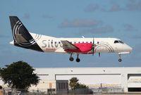 N334AG @ FLL - Silver Airways Saab 340B