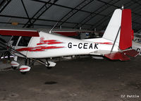 G-CEAK @ EGCB - Hangared at Barton airfield, Manchester - EGCB - by Clive Pattle