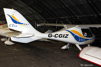 G-CGIZ @ EGCB - Hangared at Barton airfield, Manchester - EGCB - by Clive Pattle