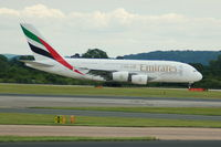 A6-EEP @ EGCC - Emirates Airbus A380-861 taking of from Manchester Airport. - by David Burrell