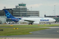 C-GPTS @ EGCC - Air Transat Airbus A330-243 Taxiing at Manchester Airport. - by David Burrell