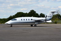 M-GCAP @ EGLK - Piaggio P-180 Avanti II at Blackbushe. Ex N773RC. - by moxy