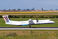 9A-CQC @ LOWW - De Havilland Canada DHC-8Q-402 Dash 8 [4258] (Croatia Airlines) Vienna-Schwechat~OE 13/07/2009 - by Ray Barber