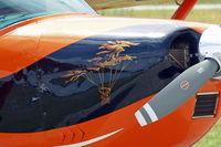 OE-KFG @ LOAN - Cessna 182J Skylane [182-57234] Wiener Neustadt-Ost~OE 12/07/2009. Showing the nose artwork.