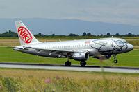 OE-LED @ LOWW - Airbus A319-132 [3407] (flyniki) Vienna-Schwechat~OE 13/07/2009