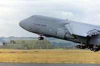 86-0011 @ EGQL - Lift off at RAF Leuchars - EGQL - returning equipment and stores to the US following the closure of nearby USN Edzell. - by Clive Pattle