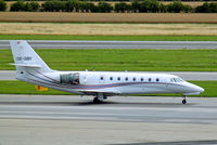 OE-GBY @ LOWW - Cessna Citation Sovereign [680-0066] Vienna-Schwechat~OE 13/07/2009. Just returning from the blast area where engine check was carried out.