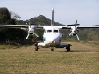 CP-2328 @ SLLS - Let410 of Aeroeste (CP-2328) landing at Caraparicito, an airstrip close to gas well Incahuasi X1 in the subandean hills of Santa Cruz - by confauna