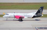 N451XJ @ FLL - Silver Saab 340