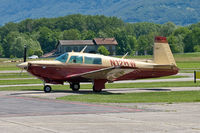 N12HW @ LSZL - A Mooney M20K with a Rocket-conversion: with a Continental TSIO-520-NB - by sparrow9