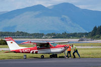 D-ENCY @ EGEO - There is no push-back truck at Oban Airport! - by Jonathan Allen