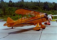 UNKNOWN @ SWF - WACO Biplane at Stewart International Airport, Newburgh, NY - circa 1970's - by scotch-canadian