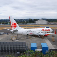 9M-LNS @ RNT - Boeing 737-800 9M-LNS for Malindo Air sitting at the southwest corner of the Renton Airport. - by Eric Olsen