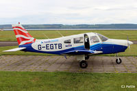 G-EGTB @ EGPN - Parked up at Dundee Riverside EGPN - by Clive Pattle