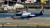 C-FZAA @ CBC7 - Helijet just arrived at Vancouver Harbour Heliport. - by M.L. Jacobs