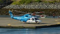C-GHJW @ CBC7 - Helijet just arrived at Vancouver Harbour Heliport. - by M.L. Jacobs