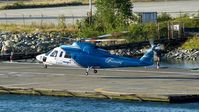 C-GHJW @ CBC7 - Helijet departing Vancouver Harbour Heliport. - by M.L. Jacobs