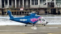 C-GHJL @ CBC7 - Helijet just arrived at Vancouver Harbour Heliport. - by M.L. Jacobs