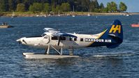 C-FHAD @ CAC8 - Harbour Air #315 taxiing to the Nanaimo Harbour terminal. - by M.L. Jacobs