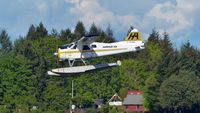 C-FJOS @ CAC8 - Harbour Air #215 coming in to land in Nanaimo Harbour. - by M.L. Jacobs