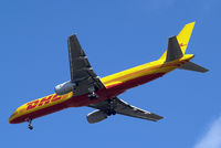D-ALED @ EGLL - Boeing 757-236F [22179] (DHL) Home~G 13/04/2014. On approach 27R. - by Ray Barber