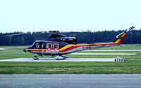 D-HHII @ EDDN - Bell 412HP [36046] (HDM-Flugservice GmbH) Nuremberg-Nurnberg~D 08/09/1993. From a slide. - by Ray Barber