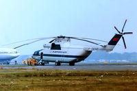 CCCP-06141 @ EGLF - Mil Mi-26 Halo [00935232] (Aeroflot) Farnborough~G 09/09/1984. From a slide. - by Ray Barber
