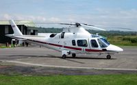 ZR322 @ EGFH - Visiting Agusta Power helicopter operated  by 32 (The Royal) Squadron RAF. - by Roger Winser