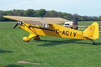 G-AGIV @ EGHP - Piper L-4J Grasshopper [12676] Popham~G 04/05/2014 - by Ray Barber