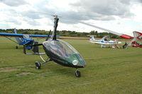 02-ACK @ EGML - 02-ACK - Rather smart Calidus Autogiro 02-ACK at Damys Hall Airfield - Tour de France ULM 2009 - Anniversaire Louis Bleriot - by Eric.Fishwick