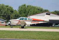N1424G @ KOSH - Beech B33 - by Mark Pasqualino