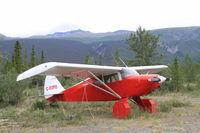 C-FZPU @ CFQ5 - Tied down at Silver City, Yukon. - by Murray Lundberg