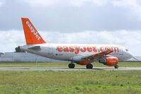 G-EZET @ LFRB - Airbus A319-111, Take off rwy 25L, Brest-Bretagne airport (LFRB-BES) - by Yves-Q