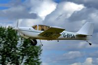 G-BYSA @ EGBR - Departure to the west - by glider