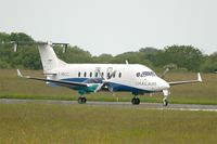 F-HBCC @ LFRB - Beech 1900D, Taxiing to holding point rwy 25L, Brest-Bretagne Airport (LFRB-BES) - by Yves-Q