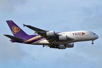 HS-TUE @ EGLL - Airbus A380-841 [125] (Thai Airways) Home~G 06/07/2015. On approach 27L.