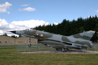 584 @ LFSX - Dassault Mirage IIIE preserved nose-up at Luxeuil Air Base, France - by Van Propeller