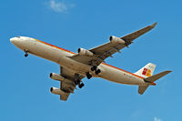 EC-GJT @ EGLL - Airbus A340-313 [145] (Iberia) Home~G 07/07/2015. On approach 27R.