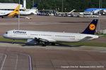 D-AIDX @ EGCC - Lufthansa - by Chris Hall