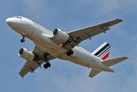 F-GRHV @ EGLL - Airbus A319-111 [1505] (Air France) Home~G 11/07/2015. On approach 27R.