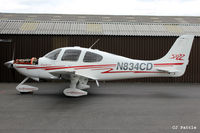 N834CD @ EGBT - Parked up at Turweston Aerodrome EGBT - by Clive Pattle