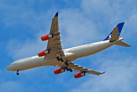 LN-RKP @ EGLL - Airbus A340-313X [167] (SAS Scandinavian Airlines) Home~G 19/07/2015. On approach 27R.