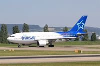 C-FDAT @ LFSB - Airbus A310-308, Taxiing to holding point rwy 15, Bâle-Mulhouse-Fribourg airport (LFSB-BSL) - by Yves-Q