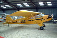 G-BJSZ @ EGTN - Piper J-3C-65 Cub [12047] Enstone~G 17/03/2004 - by Ray Barber