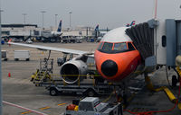 N742US @ KCLT - At the gate CLT - by Ronald Barker