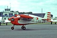 OO-LEO @ EGBG - Tipsy T.66 Nipper II [62] Leicester~G 04/07/1981. From a slide.