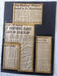 CF-BZL - News articles in the local papers after the crash - by Local media
