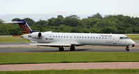 D-ACNJ @ EGCC - Moments after arrival at Manchester Airport EGCC - by Clive Pattle